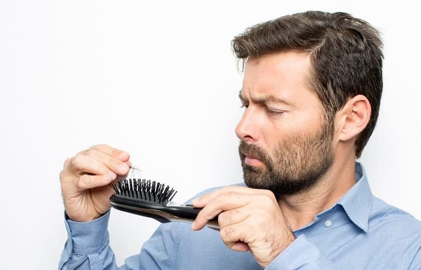 guy losing hair