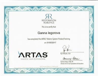 ARTAS certification