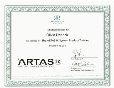 Artas Ix Certification