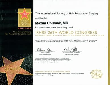Maxim Cumak MD ISHRS 26th World Congress